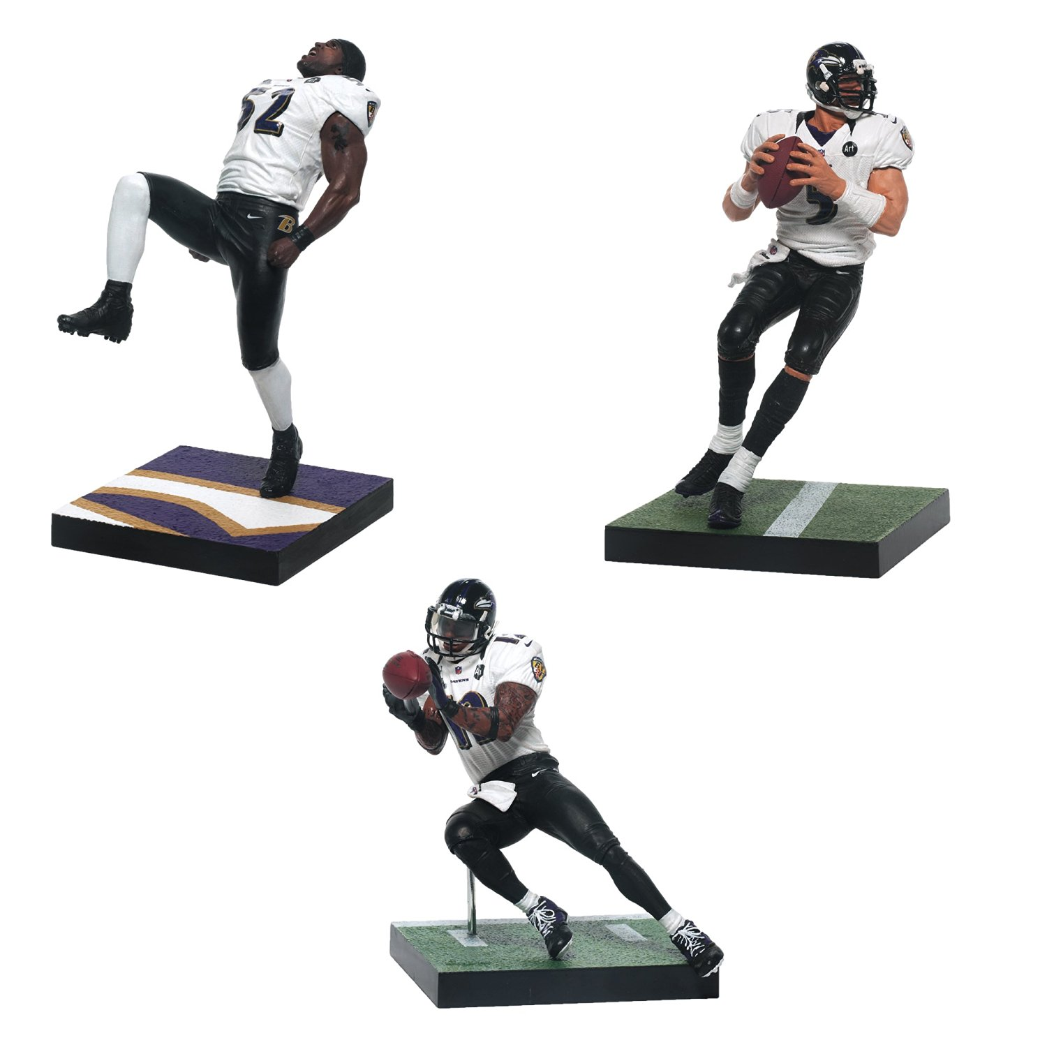 McFarlane Toys Baltimore Ravens NFL Super Bowl Action Figure, 3-Pack