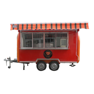 2018 EU popular cost effective airstream food trailer/moving food cart/coffee cart airstream food trailer