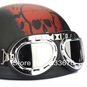 f97682a1d34 Get Quotations · Chic Motorcycle Bike Scooter Goggle Glasses Aviator Pilot  Ski Lens Clear