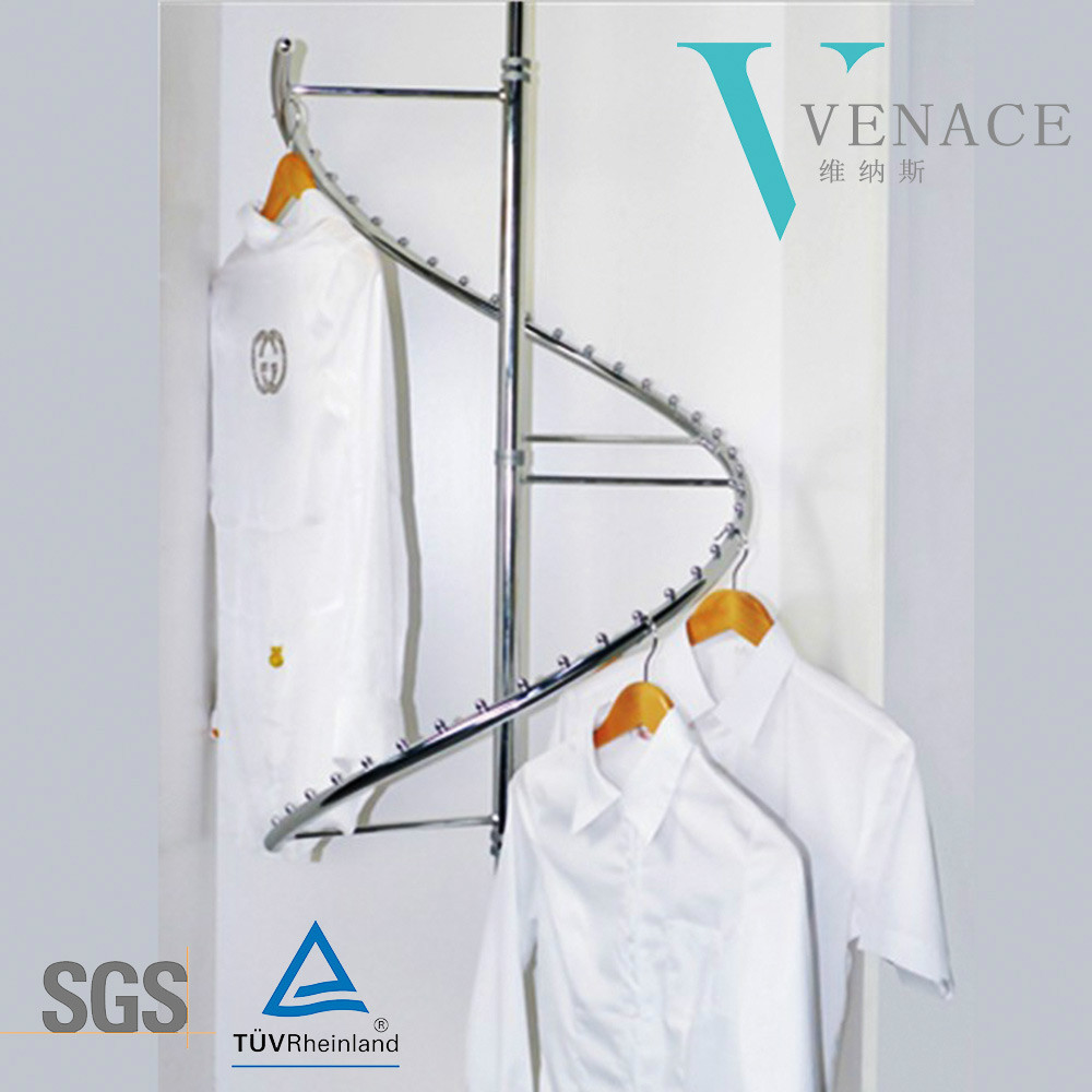 Wholesale high-quality chromed wire clothes rack wardrobe accessories clothes hanger