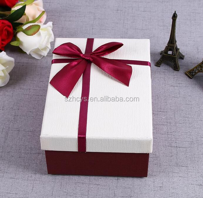 OEM folding gift box with ribbon different types gift packaging box