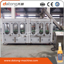 Automatic glass bottle twist off capping filling machine