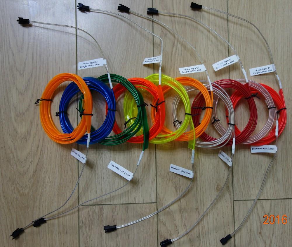 10 Farbe Wahl 0,9mm Lila El-drahtseil-schlauch Flexible Neon Licht ...
