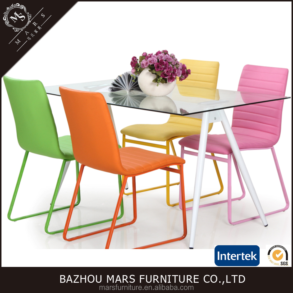 Colorful Chairs Glass Table Party Tables And Chairs For