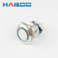 2018 New style 22mm IP67 led colors momentary piezo switch