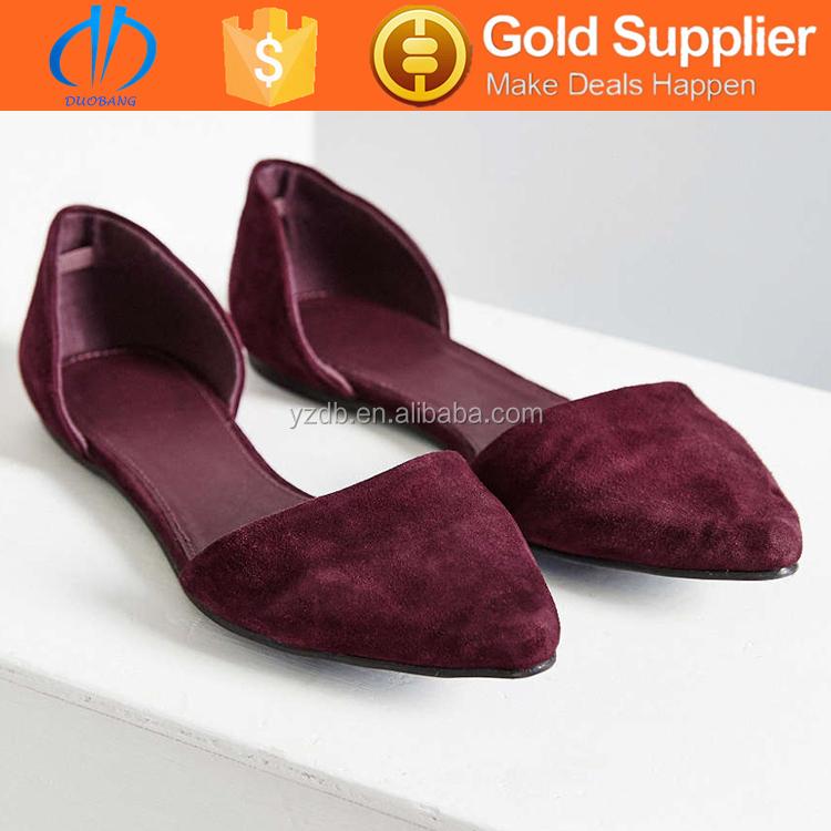 Velvet color dress shoes