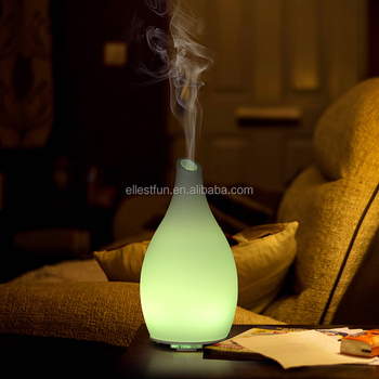 Patent 120ml Glass Essential Oil Aroma  Diffuser  Air Humidifier with 7 Color Changing Led Light GH2166A