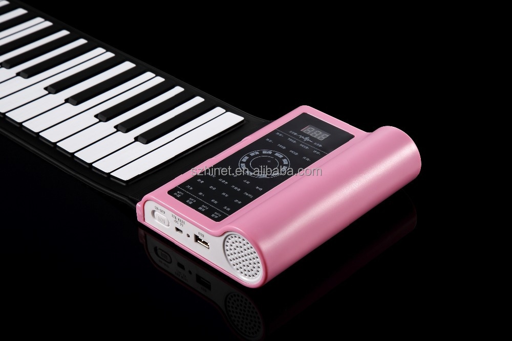 Electronic Piano, 61 keys Roll up Piano, USB Piano Keyboard