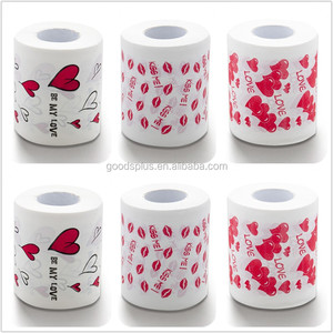 Novelty printed color decorative toilet paper