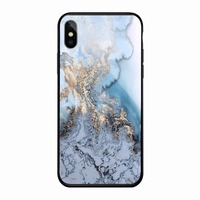 New products 2018 glass marble design cell phone case for apple iphone x xs wholesale