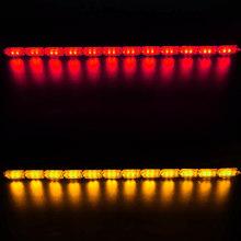 2 шт. гибкие светодиодные полосы света DRL дневные ходовые огни водонепроницаемый последовательный поток фары бегуны угловой указатель пово...(Китай)