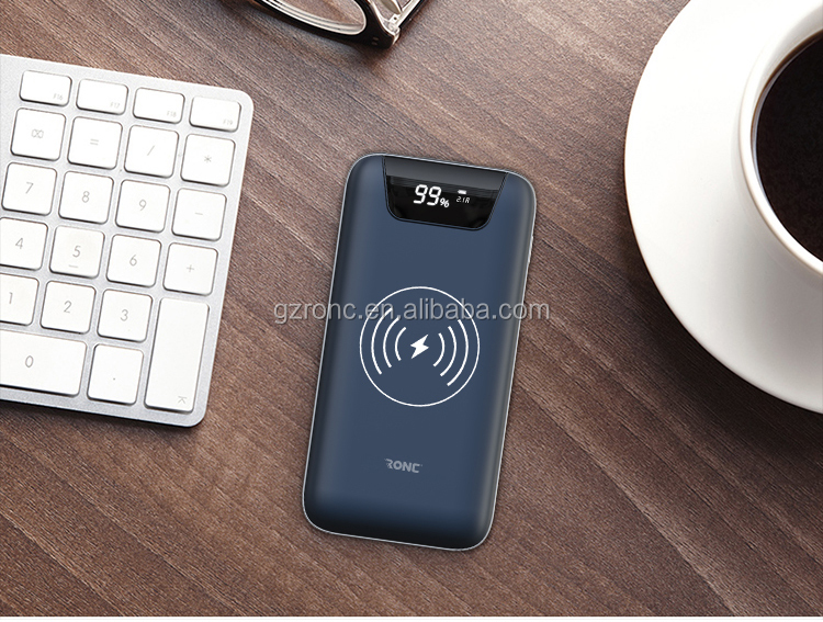 Polymer Battery 10000mAh Qi Fast Charging Wireless Power Bank