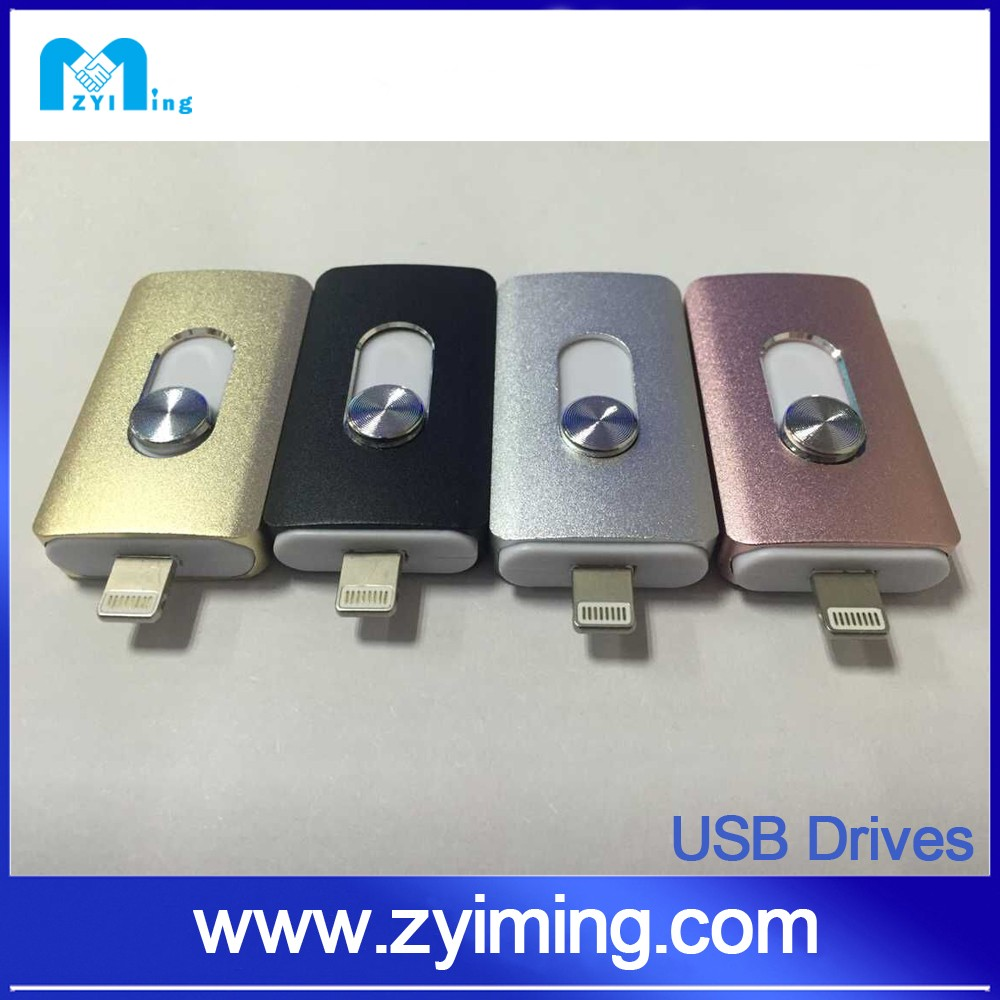 Zyiming Promotion Super Thin Credit Card For iPhone Ipad Ipod Lighting Cable USB Flash Drives 128GB OTG USB 3.0 Flash Drive