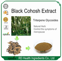 GMP Factory Supplier Natural Triterpene Glycosides Black Cohosh Extract