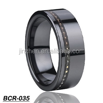 Wholesale Fashion Jewelry Mud Black Ceramic CZ Ring