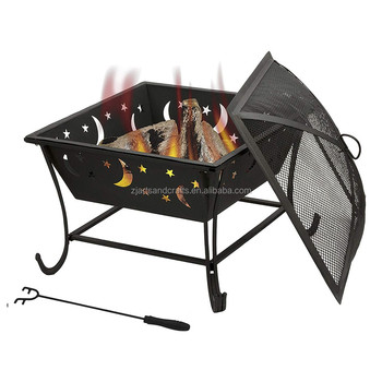 Wood Burning Outdoor Garden Fire Pit Bowl