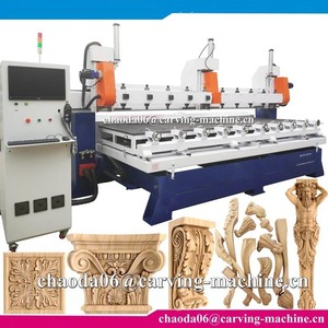 Factory price ! 5 axis simultaneous-10 head cnc wood carving machine