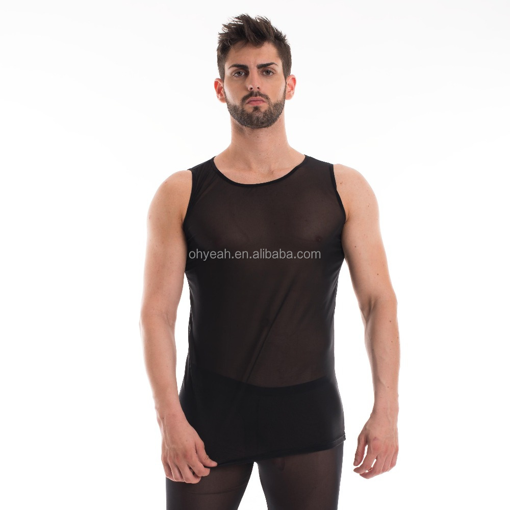 Punctual Sex Costumes For Man T-shirt Ultra-thin Male Tight Sleep Sets Bodysuit Lingerie Soft Sexy Pajamas Suit For Men Black White Begie Men's Sleep & Lounge