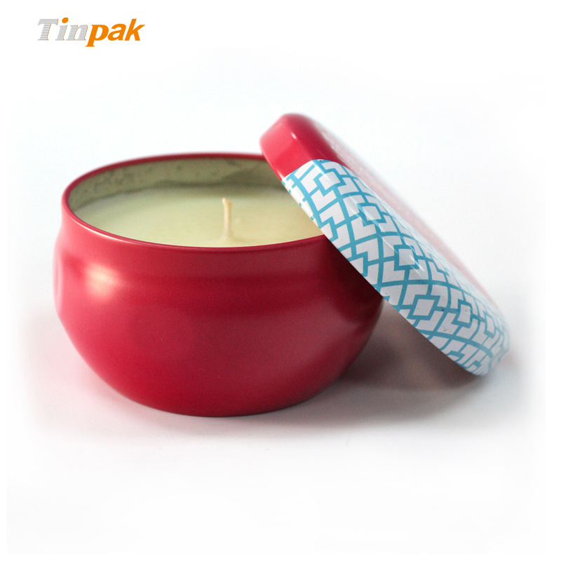 hot sale custom printed Seamless Metal Candle Tin holders
