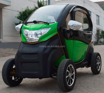 Electric Enclosed Cabin Family Mini Smart Car Four Wheel Mobility Disabled Scooter Closed Person