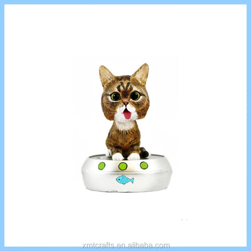 Talking Resin Bobblehead,Resin Cat BobbleHead Figurine