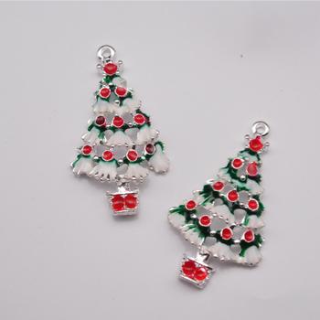 custom enamel charms xmas tree pendants charms diy christmas charms - Christmas Charms