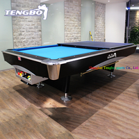International tournament standard cheap billiard 9ft/8ft pool table solid wood