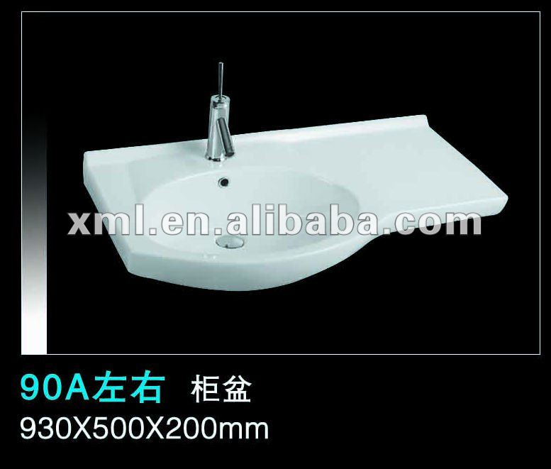 90A bathroom vanity round shape wash hand basin sizes
