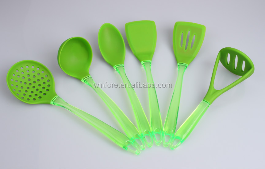 Silicone Kitchen Utensils With Wooden Handle Buy Silicon