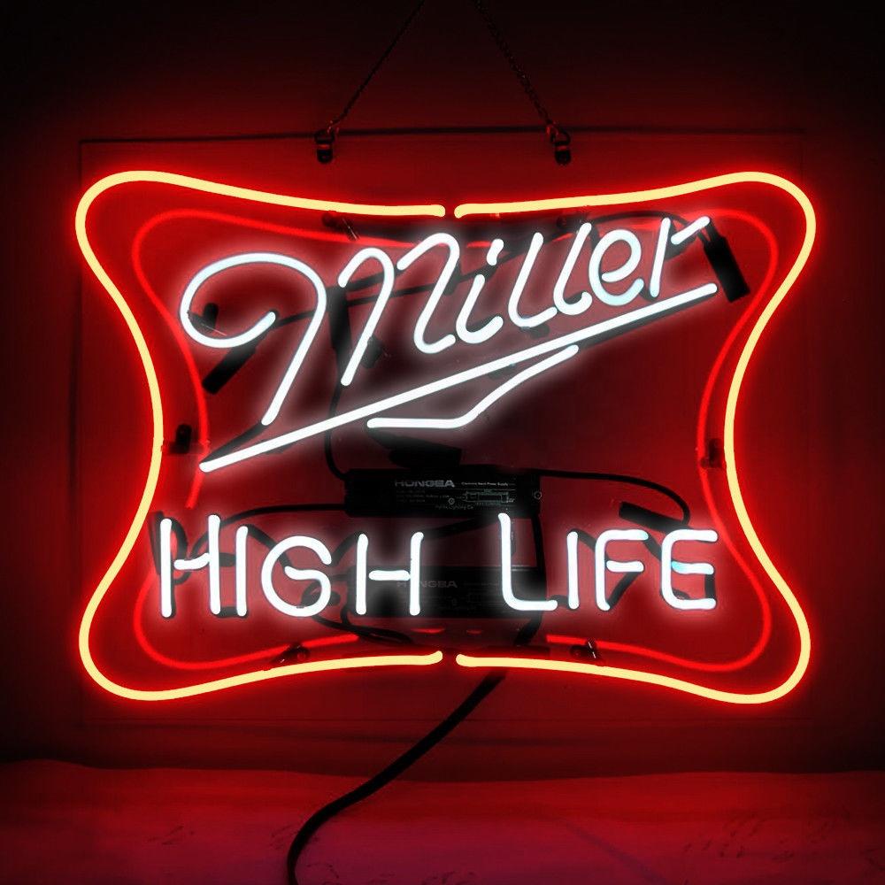 Used Neon Bar Back Panel Miller Lite Miller Beer Custom