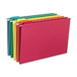 Smead Manufacturing Company Hanging Folders, 1/5 Tab Cut, Legal Size, Assorted Colors - Product Description - Smead Manufacturing Company Hanging Folders, 1/5 Tab Cut, Legal Size, Assorted Colorscolored Hanging Folders Help Eliminate Misfiled Do ...