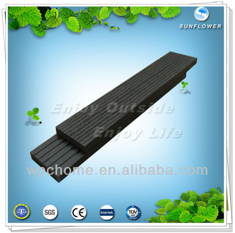 WPC/Wood Plastic Composite Decorative Timber Wood Tube Strips for Exterior Wall Tile