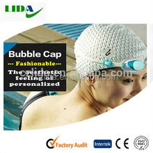 Bubble cap,Cool waterproof hot sale silicon swimming caps in china manufacturer