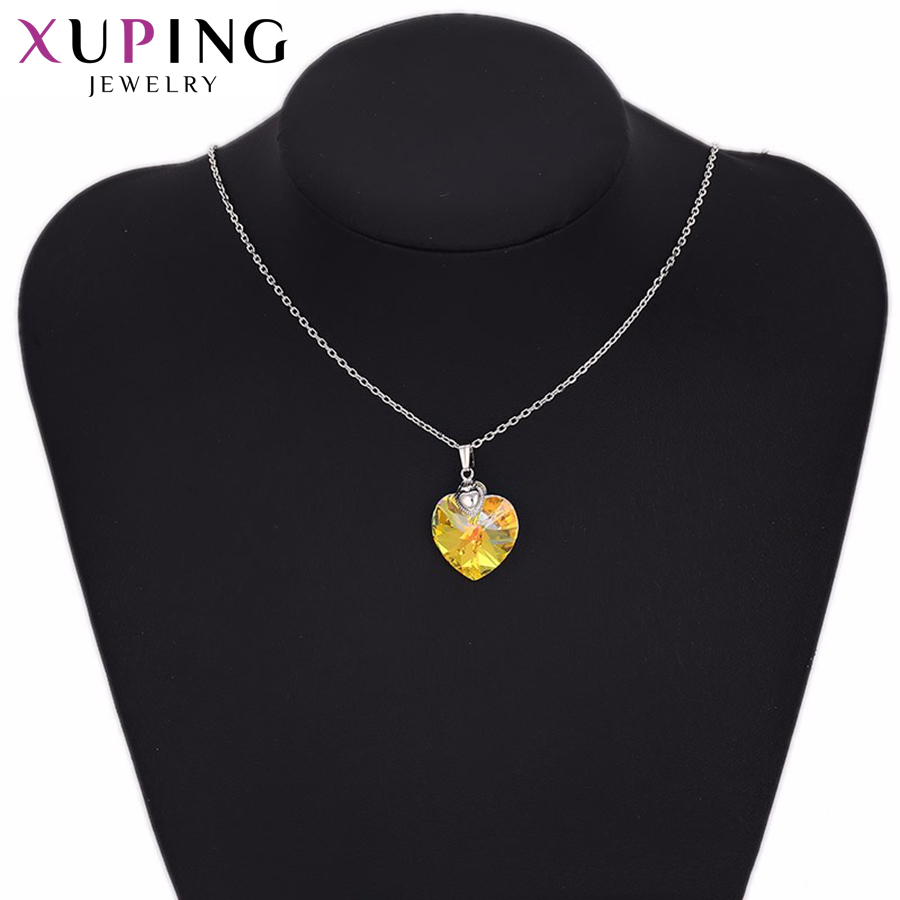 32493 xuping heart pendant copper alloy jewelry crystals from Swarovski