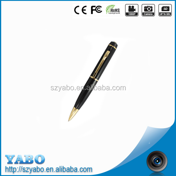 2017 new design hidden carema pen with Full HD PC webcam function and easy operation