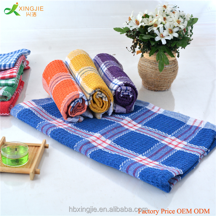 yarn dyed OEM ODM 100 cotton waffle kitchen towels