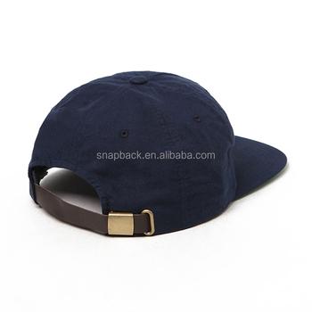 9e7eda1c93d83 Wholesale Vintage leather strapback embroidery logo Custom Unstructured 5  Panel Snapback Cap Urban Dad Hat