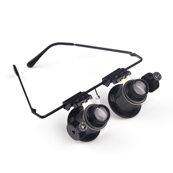 7d59cbdd592d BIJIA 9892A-II LED Illuminated Double Eye Jeweler Watch Repair Magnifying  Glasses Head Magnifier Loupe