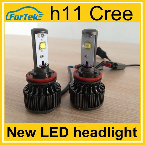 New connector 6000LM <strong>cree</strong> h11 led headlight new led products for 2015