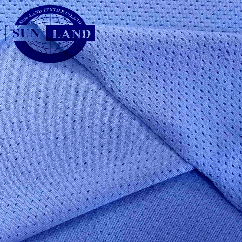 94% polyetsre 6%spandex single knitted mesh fabric for sportswear