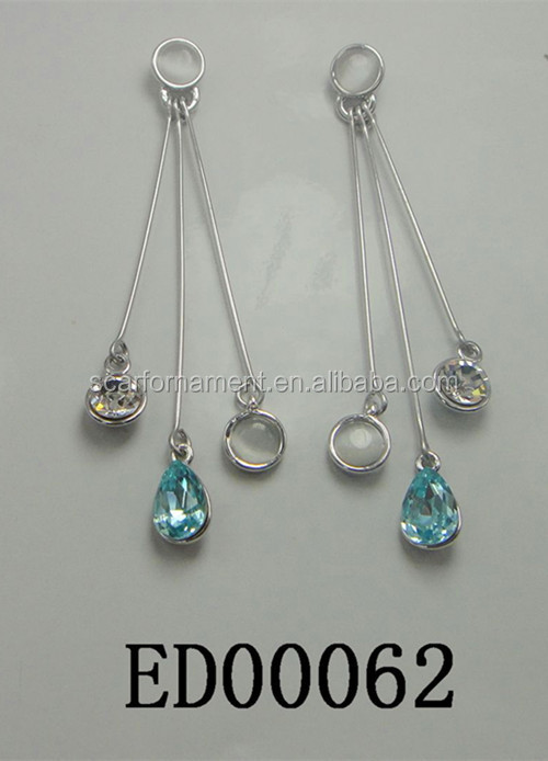 Simple Design Silver Chain Earrings New