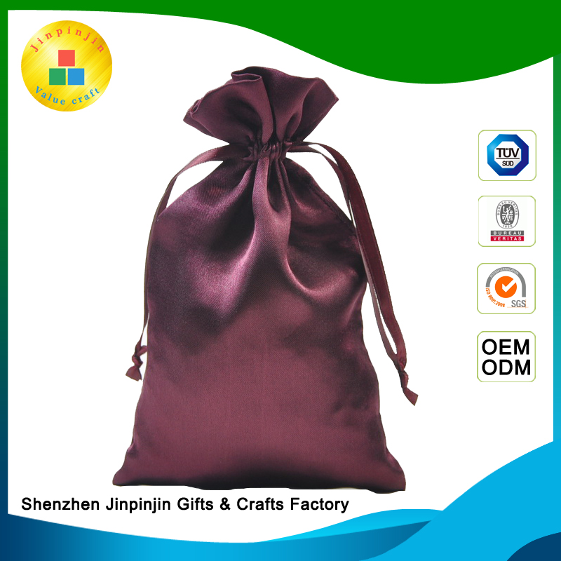 gold supplier hot-stamped return clearance luxury gift satin bags