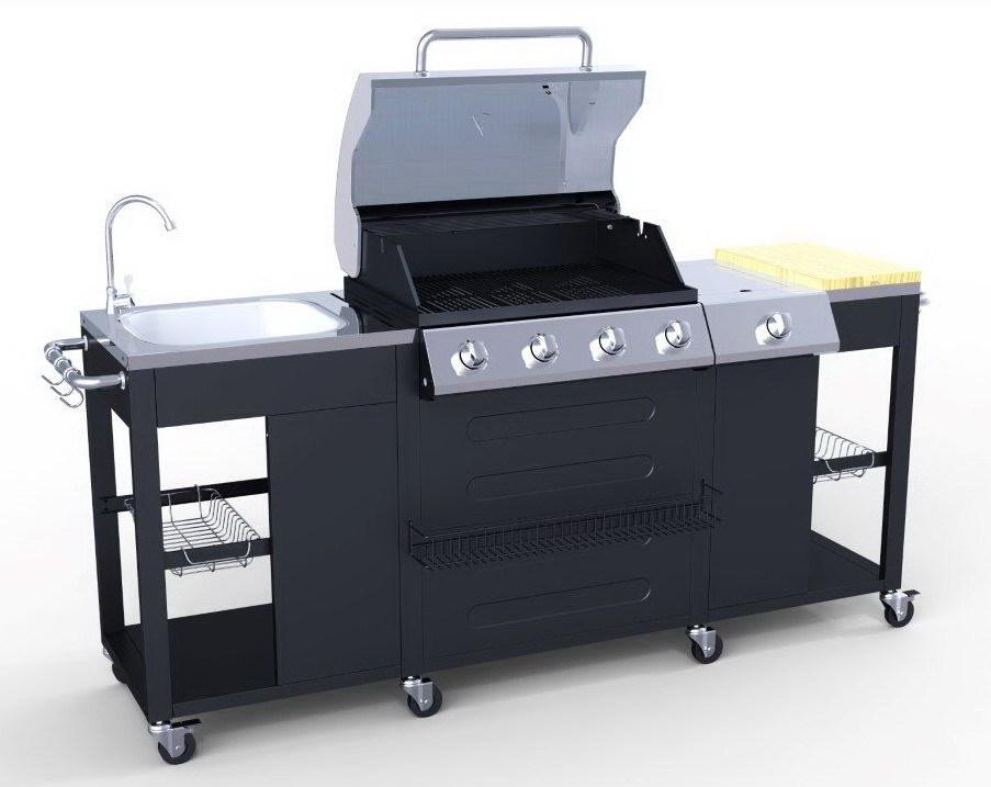 Outdoor Küche Mit Gas : Brenner edelstahl großen outdoor küche bbq gas grill buy