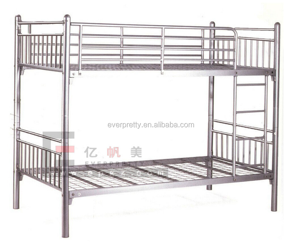 Steel double deck bed - Double Decker Beds For Public School Dormitory Adults Steel Bunk Bed