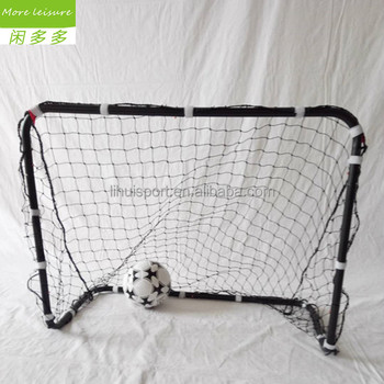 Iron pipe pop up football gate with nets