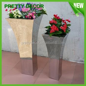 Planter Metal Flower Pot / Outdoor Garden Pots / Stainless Steel Flower  Planter