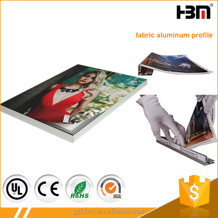 25mm and 35mm single side en alu extrud 6063 aluminum profile fabric light box frame
