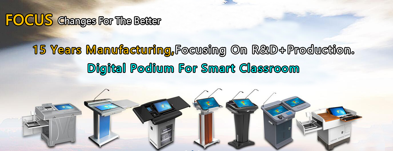 Interactive Touch Screen Teaching Smart Digital Podium School Lectern