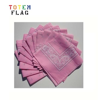 Wholesale Pink Solid Color Bandana