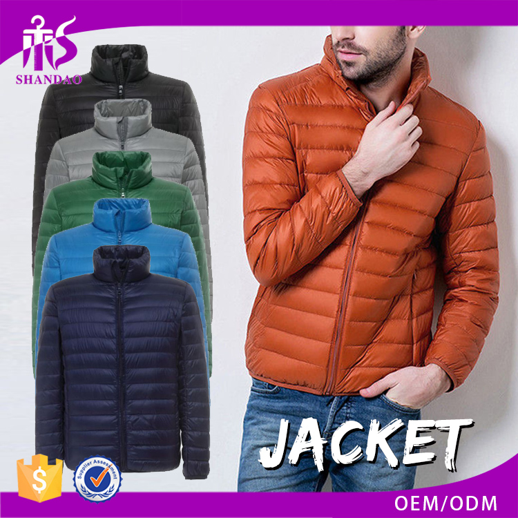 Guangzhou Shandao OEM Winter High Quality Multi Color Custom Logo Zipper Long Sleeve Down Jacket Padded